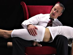 Mormon spanked over knee