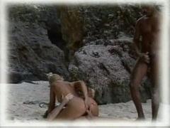 White lad sharing his wife in safari