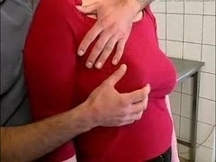 Aged Female Fucked In Kitchen..