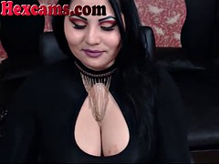 smoking big titty webcam slut with long finger nails