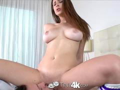 Tiny4K - Big tits Ashley Adams sits on her mans face before fuck
