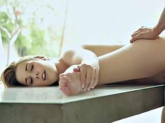 Blondine, Fußfetisch, Pornostars
