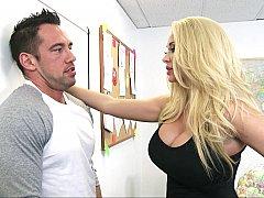 Américain, Blonde, Queue, Mère que j'aimerais baiser, Bureau, Actrice du porno, Suçant, Professeur