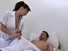 hot nurse is double penetrated by her patients