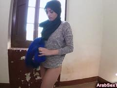 Arabian beauty gets her brains fucked out in a hotel room