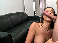 rachel starr enters the room and shoves that dick balls deep in her throat instantly