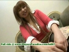 Myuu Hasegawa innocent beautiful chinese broad gets her tits licked and also shows her love hole