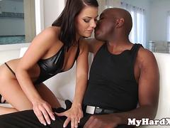 Assfucked gonzo beauty pounded with bbc