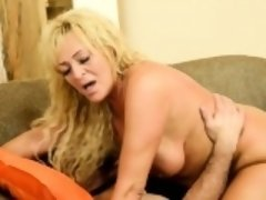 Busty mature banged by plumber