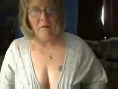 Excited fuckable grandma having fun on live camera