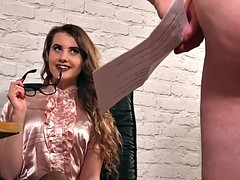 office clothed domina