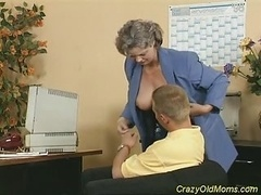 Wacky Aged Mom Gets Flag pole Fucked And also Office Fellatio Sex