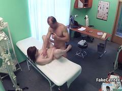 Chubby gal fucks in hospital office