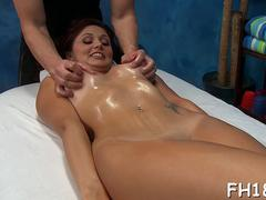 A passionate and sensual massage turns into a lovely oiled sex