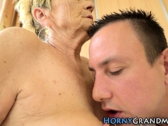 Old grannies ass tongued