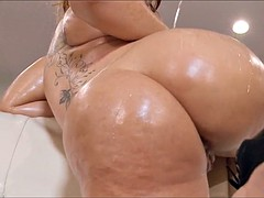 Big Oiled up Booty gets Anal