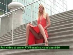 Ingenious 18-19 y.o. Blonde Outdoor Flashing
