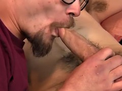 he loves sucking hairy dicks more than anything else