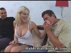 Jack Watches His Huge Hooter Wife