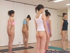 Japanese chicks practicing Asian nude part2