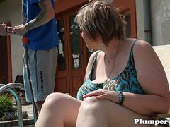 Dominant mature SSBBW queening younger guy