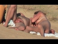 hidden movie of hot French couple on the beach allotment 6