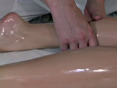 Girl Gets Double Fucked During Massage