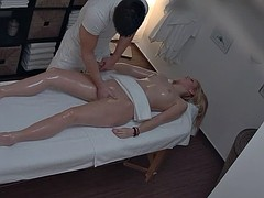 Amazing Blonde Fucked By Masseur
