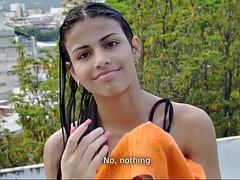 Nana, Gros seins, Bikini, Brunette brune, Fille latino, De plein air, Solo, Nénés