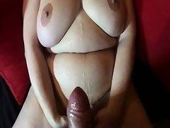 Fat cumshot all over her curvy bod Twanna from 1fuckdatecom