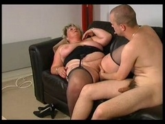 BLONDE Old Big beautiful women LOVES Young and fresh Cum cannon