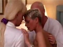 Stel, Rijpe lesbienne, Shemale