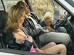 素人, フェラチオ, 車