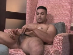 ActiveDuty Army Hunk Omar Toys His Ass and Jerks Off