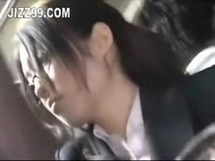 office lady seduced fucked by geek on bus
