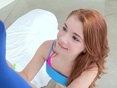 18 ans, Grosse bite, Mixte, Hard, Petite femme, Réalité, Rousse roux, Étudiant