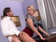 Rubia, Mamada, Estilo perrito, Sexo duro, Hd