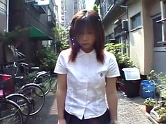 Japanese schoolgirl marbles insertion for jump rope Subtitle