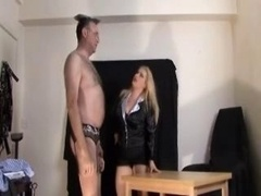 Mistress in Stockings Office Humiliation