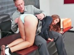 Ariana Grand  is getting spanked in detention by her teacher