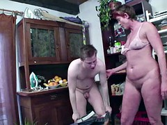 German Milf get asshole fucked by step-son