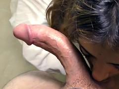 Brunette Realtor Penelope Sucking Long Schlong