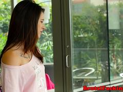 Inked 18yo stepsis gets roughfucked