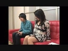 Mother and besides son witnessing porno together experiment - 4