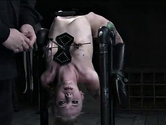 rough bondage session with blonde slut