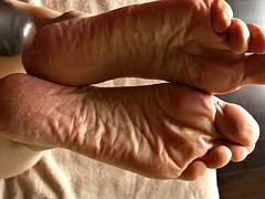 Lyn - Sperm Therapy after a Foot Scrub