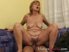 Brenda gets a young knob inside her
