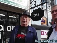 Hooker fucked by old guy