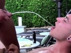 Male pissing erection photos and gay anal first time Piss