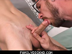 cute twink stepson fucked by dad after getting caught